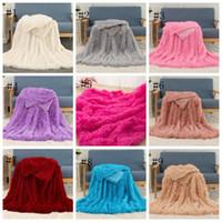 Flauschige Decken Lange Shaggy Decke Fleece Wurf Decke Massive Hochzeit BettPreads Erwachsene Weiche Bettwaren Lieferungen 160 * 200 cm 2 stücke DSL-yw1689
