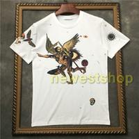 2020 핫 브랜드 태그 의류 남성 악마의 해골 프린트 티셔츠 디자이너 t 셔츠 Camiseta 티 정상 t- 셔츠 짧은 소매 t 셔츠 좋은 품질