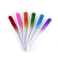 1pcs Colorful Glass Nail Fichiers Durable Cristal File Tableau tampon Nailcare Nail Art Outil de manucure UV Polish Tool Fast DHL