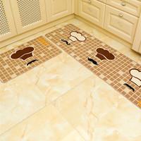 2 pcs / set 50 * 80 + 50 * 120 centímetros Cozinha Tapete Longo absorver água e óleo e resistente à água para o chão Mat antiderrapante banho Mat Rug