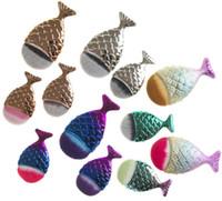 머메이드 브러쉬 타원형 물고기 꼬리 모양 메이크업 브러쉬 모자 기초 얼굴 골드 화장품 브러쉬 메이크업 도구 GGA1865
