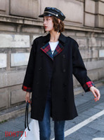 New arrival! women fashion double breasted trench coat high quality branded design plus size loose fit trench for women size S-XXL 3 colors