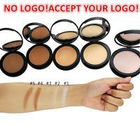 Volle Abdeckung Matte Kompaktpulver langlebiges Make-up gepresstes Gesicht Pulver Unsichtbares Make-up natürliches Finish-Kosmetik