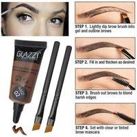 Waterproof sobrancelha Enhancer Dye Creme de Longa Duração Natural Professional Make Up Eye Brow Gel com duas escovas