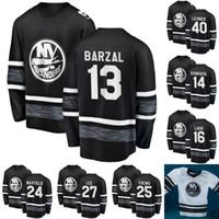 New York Islanders 2019 All-Star Game Jersey Mens 12 Josh Bailey 13 Mathew Barzal 27 Anders Lee 15 Cal Clutterbuck الهوكي الفانيلة