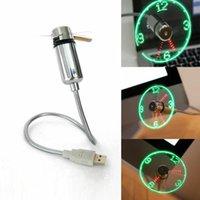 LED USB Fan Horloge Mini temps flexible avec LED Horloge de bureau cool gadget Temps réel Affichage de l'horloge Durable réglable