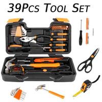 39 stücke Orange Werkzeug Set Haushalt Werkzeuge Kit Box Mechanics Frauen Damen