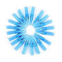 10шт 3/5/7 / 9R синий смешанный Стерильные одноразовые татуировки Machine Gun Форсунка Советы иглы труб для комплектов Grip татуировки иглы чашки Чернила для красоты