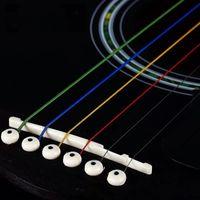 6Pcs Corde per chitarra acustica chitarra arcobaleno colorato Strings E-A per Acoustic Folk chitarra classica GuitarString in acciaio inox