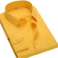 Plus Size 8XL manches longues solide 6XL Hommes Chemises sociaux grande taille hommes blouse Vêtements de travail 5XL 6XL 7XL bon marché Qisha BS12xx CX200629