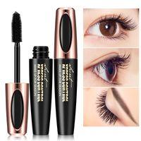 À Prova D 'Água 4D Fibra De Seda Rímel Extensão Longa Ondulação Maquiagem Eye Lashes Sex Longa-duração Pestana Escova LLA322