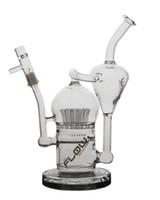 JM air Débit Sci verre Bongs pipe à eau avec un arbre de bras Sprinkler diffuse perc huile avec des accessoires Rigs fumeurs