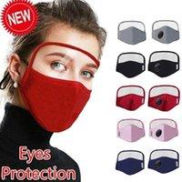 Stokta var ! Yuva İnsanlar Koruyucu Maske ile Göz Kalkanı Yıkanabilir 2 Katmanlar Pamuk Facemask Hızlı Kargo Yeni Tasarımcı Yüz Maskesi