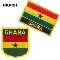 Freies Verschiffen-Ghana-Flaggen-Stickerei-Eisen auf Flecken 2pcs pro Satz PT0084-2
