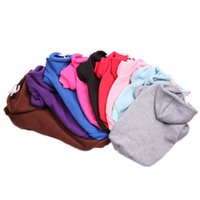10 colores suéter de perro otoño e invierno cachorro abrigo multicolor mascota ropa mascota ropa con capucha perro ropa ropa de ropa caliente