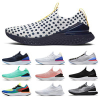nike epic react fly knit flyknit Alta qualidade EPIC React Fly Knit Men Womens Running Shoes clássico Fusion Silver Grey Spots fashion desinger Sneakeres Trainers