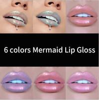 액체 립글로스 립 밤을 지속 HANDAIYAN 6 개 색상 글로우 반짝이 쉬머 공주 립글로스 립 틴트 모이스춰 라이징 방수 금속 긴