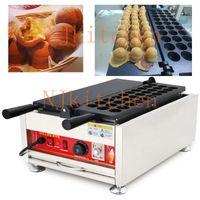 Malezya Kaya Topları Makinesi Elektrikli 110 v 220 v Hindistan Cevizi Reçeli Topları Makinesi Demir Pişirme Pan Waffle Topu Baker Makineleri