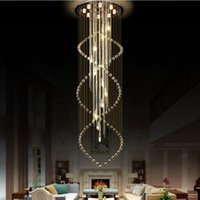 럭셔리 거실 스테인레스 스틸 샹들리에 K9 크리스탈 홈 계단 램프 AC110-220V에 대한 Cystal 샹들리에 조명기구를 LED