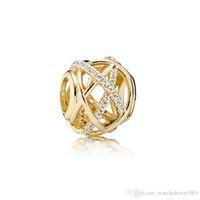 Nuove perline autentiche in argento sterling 925 adattano braccialetto Pandora amore / api charms per la collana della catena del serpente europeo moda gioielli fai da te