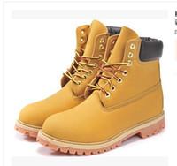 Echtes Leder Herren Martin Stiefel Klassische High Top Wasserdichte Schnürschuhe Frauen Herbst Winter Einzelne Leder Mode Stiefel Großhandel