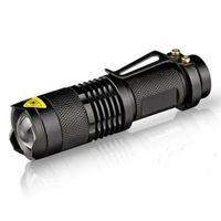 5 ألوان مشاعل مشاعل ضوء فلاش 7W 300LM Q5 LED المصباح التخييم الشعلة قابل للتعديل التركيز مشاعل للماء مصباح السفينة الحرة