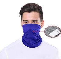 Scarf Bandanas Filter Cycling Mask Neck Gaiter with Safety P...