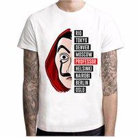 Designer-T-Shirt Men Kurzarm Haus von Papier T-Shirt Männer Lustiger Entwurf La Casa De Papel T-Shirt Geld Heist Tees Tv Series-T-Shirt
