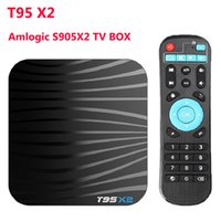 T95X2 Amlogic S905X2 رباعي النواة TV BOX Android 8.1 Smart TV Box H.265 4K Set top box 2GB 16GB T95 X2