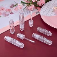 3ml Diamant-Form leerer Kunststoff-Lip-Glanz-Verpackungsröhrchen mit Zauberstab-Make-Up-Balsam-Container wiederverwendbare Flasche Klar-Top für Lippenstift-Proben