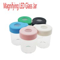 155ml Dry Herb Flowers 3. 5g Magnifying LED Light Glass Stash...