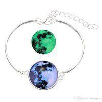 الكريستال سوار مجوهرات الوهج في سلسلة كوكب أساور الزجاج كابوشون أساور