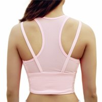 Sport-BH High Impact Breathable Damen Fitness Padded Push Up Laufen Yoga Gym Rosa Stoßfest Sport Dessous Top Nahtlos