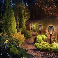 태양 전원 LED 화염 램프 방수 96LED 춤 점멸 토치 라이트 야외 태양 광 LED 화재 조명 정원 잔디 장식 C5845