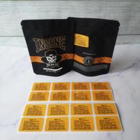 Yeni varış 3.5 G INSANE çanta Koku geçirmez çanta vape ambalaj için kuru ot buharlaştırıcı mylar fermuarlı çanta ücretsiz kargo