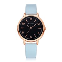 Women Watch Bracelet Watch Contracted Rose Gold Leather Wris...