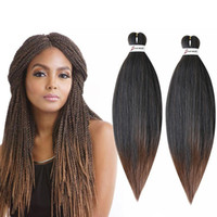 "Perm Yaki Easy Jumbo Braids Ombre Pre-Stretched Braiding Hair Synthetic Crochet Braids Hair Extension 20 ""26"""