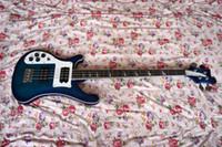 Fabrika Özel Mavi Solak 4 Strings ile Elektrik Bas Gitar, Gülağacı Klavye, HH Transfer, Yüksek Kalite, Özelleştirilebilir