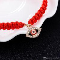 Красный Струнный браслет Слазкий глаз, красная нить судьбы, красный глаз браслет удачи Браслет, браслет амулет