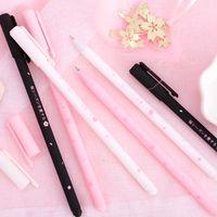 0.38mm Romantico Sakura Gel Pen Rollerball Pen Nero Ink School Forniture per ufficio Cartoleria per studenti di alta qualità