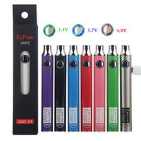 Bateria original do Ugo V3 com carregador de cabo de micro USB 650mAh 900mAh Pré-aquecimento de baterias VV Vape Pen