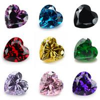 1000 Adet Kübik Zirkonya Taş 5A Kalp Makine Kesim CZ Taş Brithstone Kristal Yüzer Charms Fit Bellek Locket Gevşek Diamonds Taşlar 5.0 MM