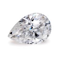 VVS Clarity Def White Color Pear Cut Form Свободные синтетические моассанит алмаз для изготовления ювелирных изделий