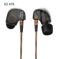 KZ는 헤드폰 HIFI 스포츠 모니터 DJ 스튜디오 스테레오 음악 헤드셋 이어 버드를 실행 귀 유선 이어폰 원래 금속 슈퍼베이스 스포츠에서 ATE
