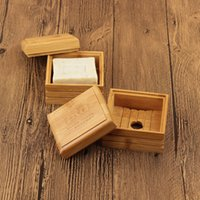 친환경 대나무 비누 접시 컨테이너 천연 대나무 비누 접시 상자 비누 케이스 홀더 비누 스토리지 박스 욕실 액세서리 BH3235 TQQ