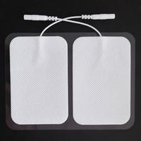 TENS Unité Adhésif Pads électrode avec prise 2.4inch * 3.5Inch EMS électrique Stimulateur grand Pads 2pcs par paquet