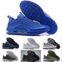 NIKE Air max 97 2018 Brand New Sean Wotherspoon Hombres Mujeres Zapatos para correr Top s Mujeres Vivid Sulphur Multi Yellow Blue Hybrid Sports shoes