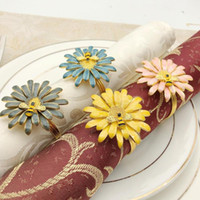 Bee Flower Napkin Buckle Napkin Ring Chinese Alloy Ring Vale...
