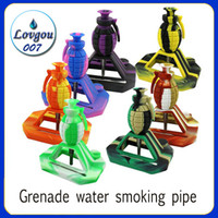 New design Grenade water smoking pipe silicone Nectar Collec...