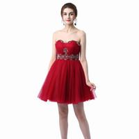 Chérie Paillettes Perles Backless Robes de bal Au-dessus de longueur genou bretelles courte robe de bal Mini cocktail Graduation Robes pas cher